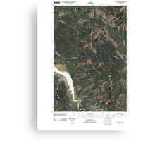 USGS Topo Map Washington State WA Oman Ranch 20110406 TM Canvas Print