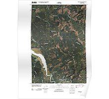 USGS Topo Map Washington State WA Oman Ranch 20110406 TM Poster