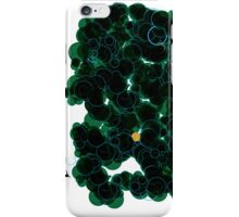 Shiny Metal Thing - Green Bubbles iPhone Case/Skin