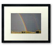 Without The Rain There Would Be No Rainbow Framed Print