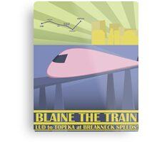 Travel Blaine Rail Metal Print