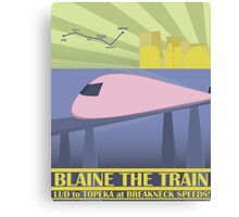 Travel Blaine Rail Canvas Print
