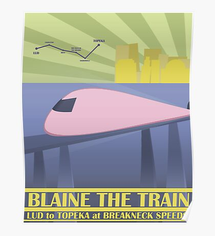 Travel Blaine Rail Poster
