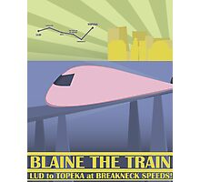 Travel Blaine Rail Photographic Print