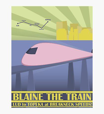 Travel Blaine Rail Photographic Print