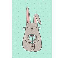 Bunny Tea lover Photographic Print
