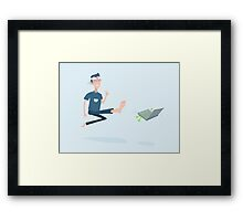 Kung Fu Guy kicks a PC Framed Print