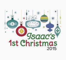 Isaac's 1st Christmas One Piece - Short Sleeve