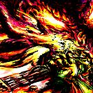 Metroid Metal: Ridley- Through the Fire.. by LightningArts