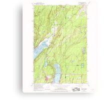 USGS Topo Map Washington State WA Belfair 239987 1953 24000 Canvas Print