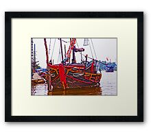 Ship Of Hoi An Framed Print