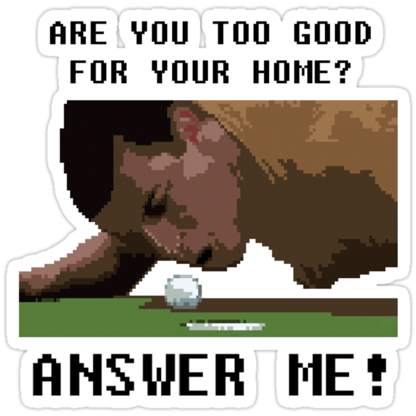 Happy Gilmore 8 bit style by antdragonist