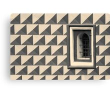 Geometric Old Wall Pattern Canvas Print