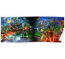 Nintendo Vs Sega Poster