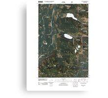 USGS Topo Map Washington State WA Mount Si 20110428 TM Canvas Print