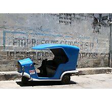 Blue Taxi Havana Photographic Print