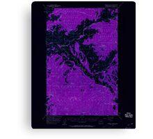 USGS Topo Map Washington State WA Aeneas Valley 239750 1957 62500 Inverted Canvas Print