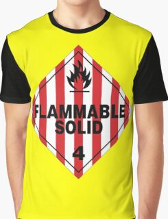 Flammable Solid Graphic T-Shirt