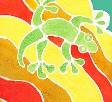 Rainbow Gecko by robertemerald