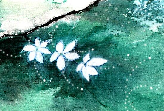 White Flowers 2 by Anil Nene
