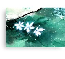 White Flowers 2 Canvas Print