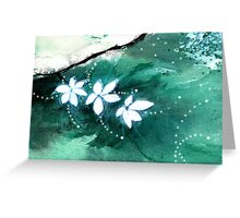 White Flowers 2 Greeting Card