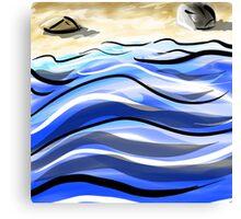 Caligrapher's Beach Canvas Print