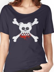 BEAR SKULL AND CROSSBONES Women's Relaxed Fit T-Shirt
