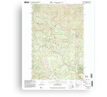 USGS Topo Map Washington State WA Blewett Pass 240113 2003 24000 Canvas Print