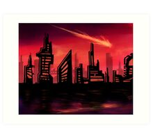 Blazing Skyline Art Print