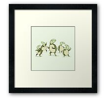 Dancing Turtles Framed Print
