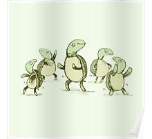 Dancing Turtles Poster
