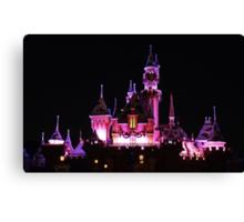 Disney Castle at Night Canvas Print