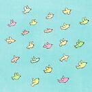 Flying Birdies by Sophie Corrigan