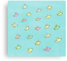 Flying Birdies Canvas Print