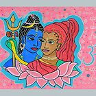Shiva and Parvati by happyhArt