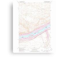 USGS Topo Map Oregon OR Heppner Junction 280186 1962 24000 Canvas Print