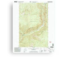 USGS Topo Map Washington State WA Coleman Peak 240592 2001 24000 Canvas Print