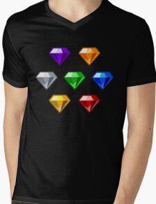 Chaos Emeralds Mens V-Neck T-Shirt