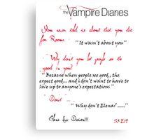 Vampire Diaries - Emotional Time Canvas Print