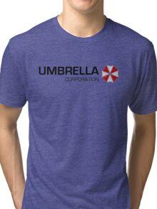 Umbrella Corps - Black text Tri-blend T-Shirt
