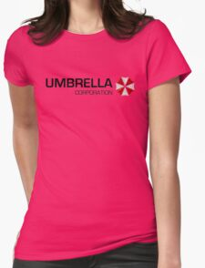 Umbrella Corps - Black text Womens Fitted T-Shirt