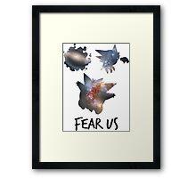 Fear us - Gengar family Framed Print