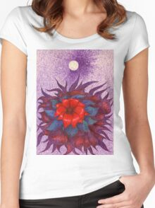 Space Flower Women's Fitted Scoop T-Shirt