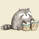 Raccoon on Bongos by Sophie Corrigan