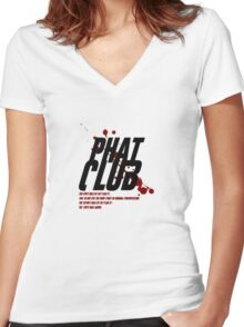 Phat Club Women's Fitted V-Neck T-Shirt