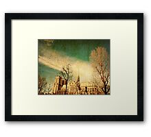 old-fashioned paris france Framed Print