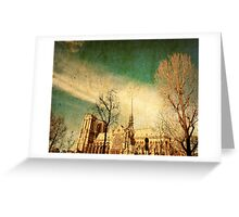 old-fashioned paris france Greeting Card