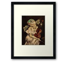 Seated Fish With Violin Framed Print