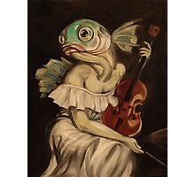 Seated Fish With Violin Photographic Print